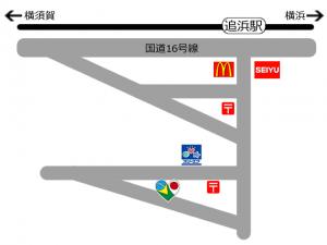 横須賀市追浜の美容院Flavia Hair(フラビアヘアー)の地図